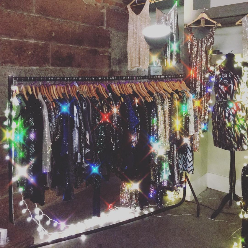 lots of sequinned clothes