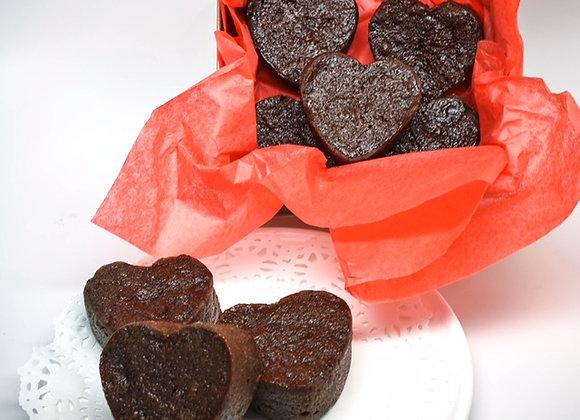 Heart Shape Black Cake Miniatures