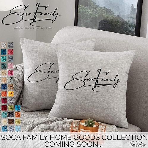 Soca Family Throw Pillows