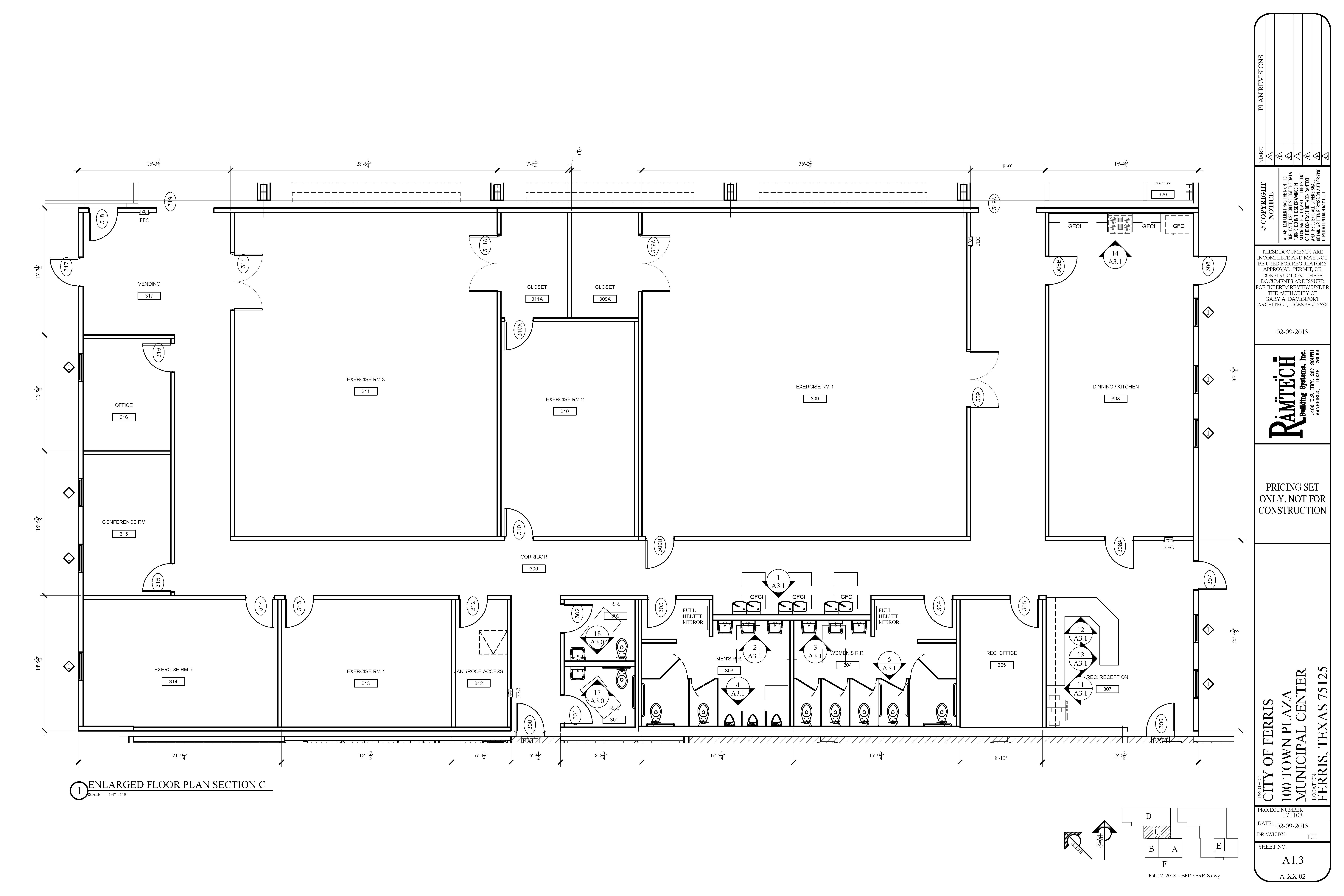 Recreation Center Floorplan