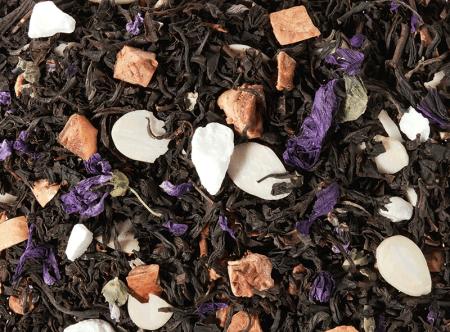 Mélange de Thés noir Violette/Macaron
