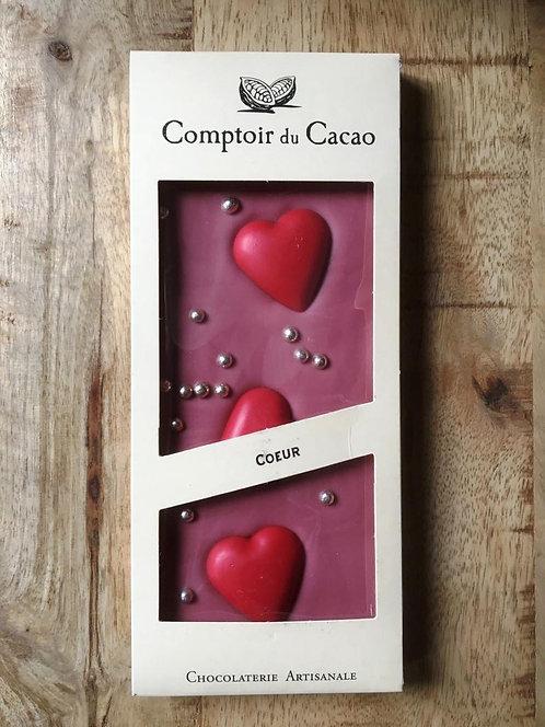 Tablette chocolat Ruby Coeur