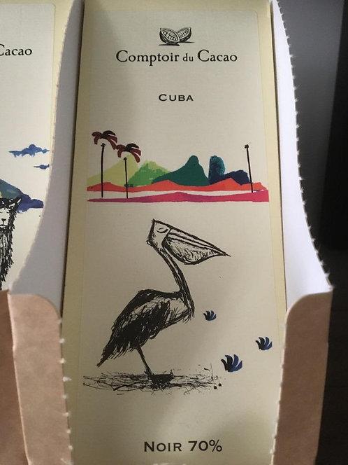 Tablette chocolat noir Cuba