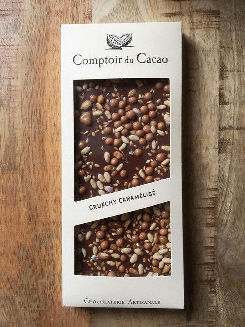 Tablette chocolat au lait Crunchy Caramel