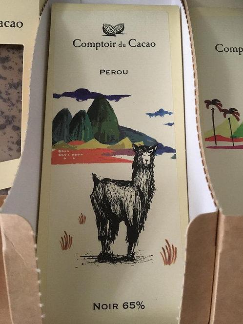 Tablette chocolat noir Pérou