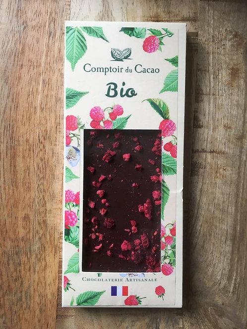 tablette noir bio framboise