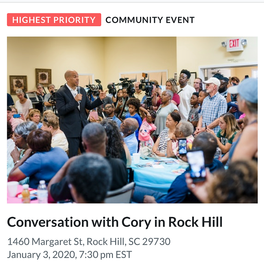 Conversation with Cory in Rock Hill