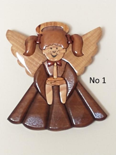 Angel Intarsia - Variety of colors and wood Handmade
