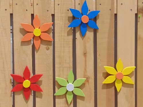 "Garden Shed wood 7""Flower"