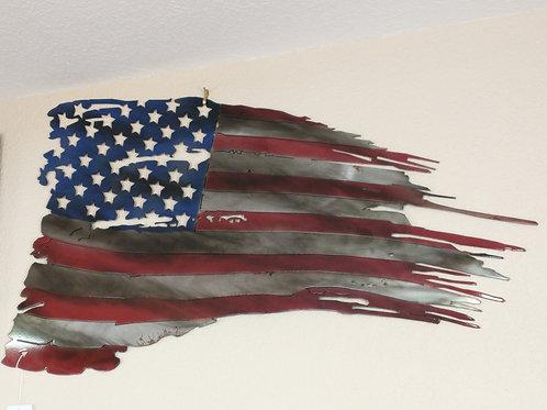 Metal Torn Flag