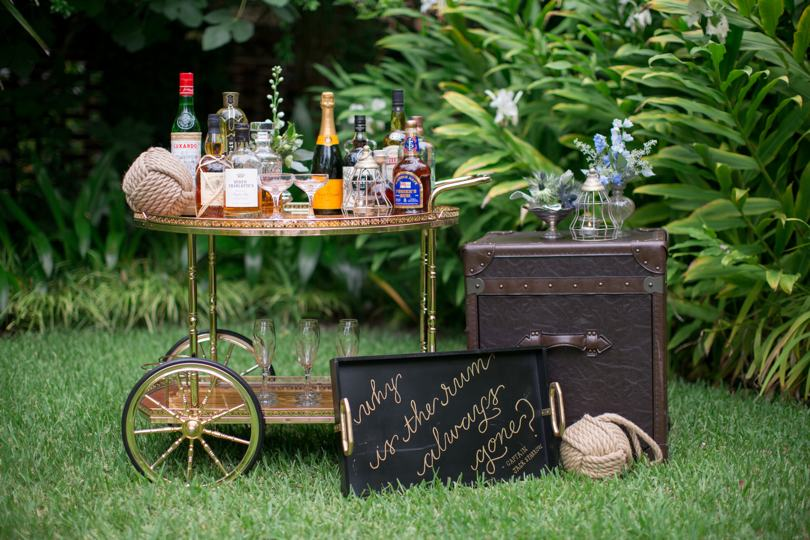 DIY-whiskey-station-for-Southern-wedding