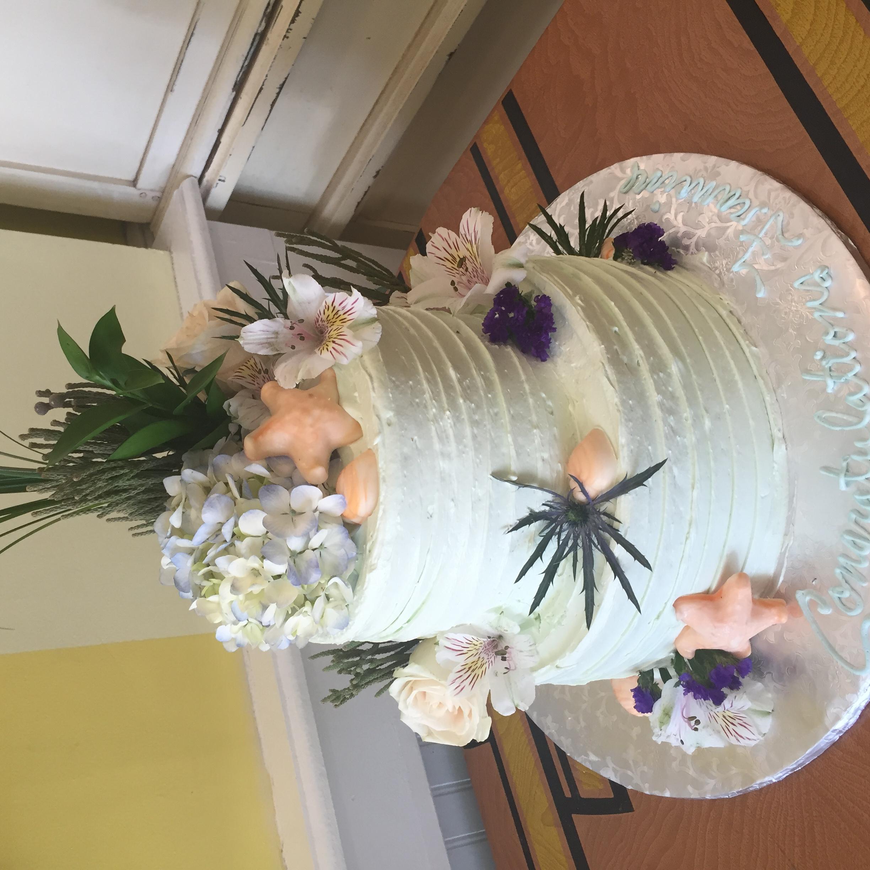 Sea flower cake
