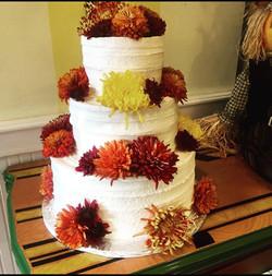 Fall tier cake