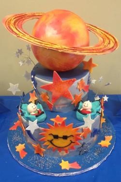 Tier Saturn cake