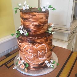 Chocolate 2 tier cake
