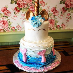 Unicorn tier cake