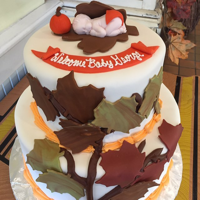 Fall baby cake