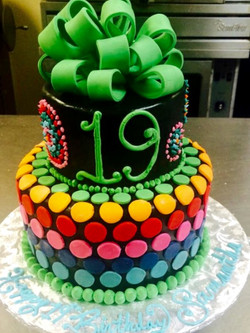 19th birthday cake