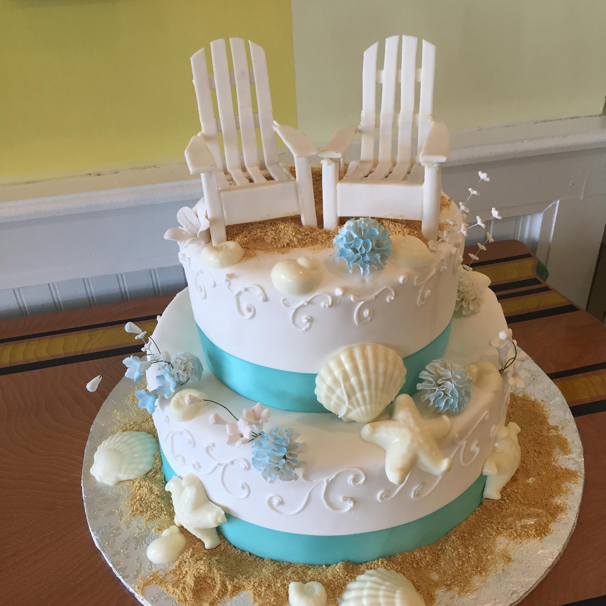 Beach tiered cake