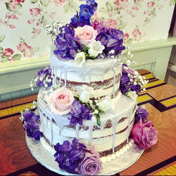 Naked purple cake