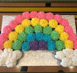 Rainbow cupcake display