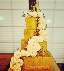50th tiered cake