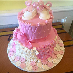 Tiered pink cake