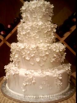 4 tier mini flower cake