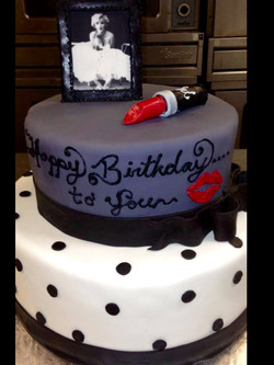 Marilyn birthday cake