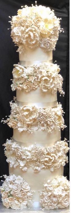 Tall tower wedding cake