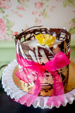Chocolate & white cage cake