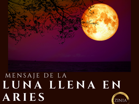Mensaje de la luna llena en Aries