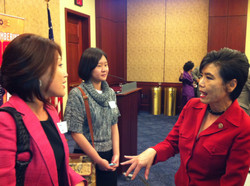 Capitol Reception for 1882 resolution talking with CA Congresswoman