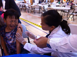 Flu Vaccination at 2015 KAOG Health Fair