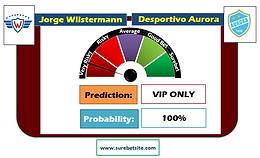 JORGE WILSTERMANN vs DESPORTIVO AURORA SURE PREDICTION