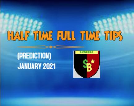 Half Time Tips January 2021