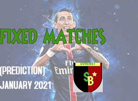 Fixed matches archives January 2021