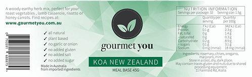Koa New Zealand Meal Base