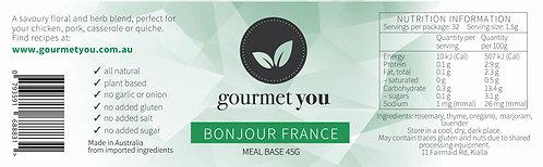 Bonjour France Meal Base