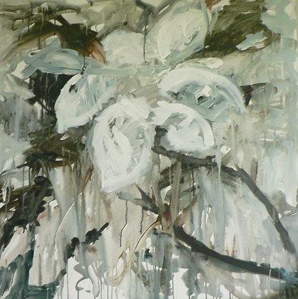 Magnolias (Acrylic on Canvas)