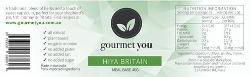 Hiya Britain Meal Base