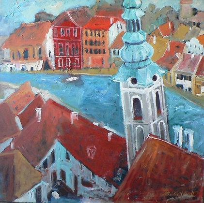 Cesky Kromluv (Oil on Linen Canvas)