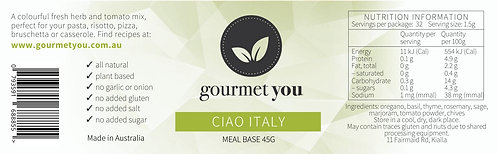 Ciao Italy Meal Base