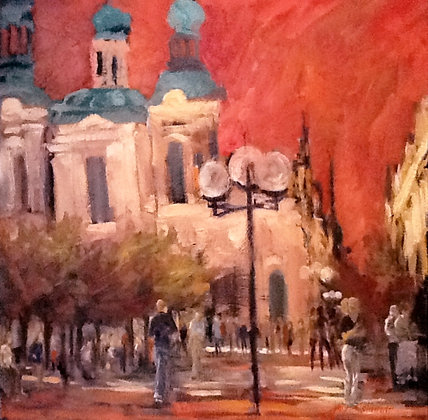Prague (Oil on Canvas)