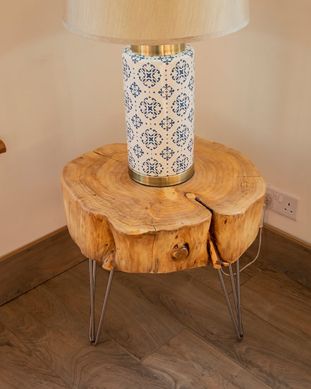 Log Lamp/Side Table