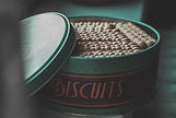 green-steel-container-with-biscuits-lot-