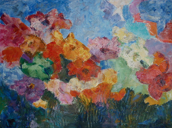 Parisian Flowers II (sold)