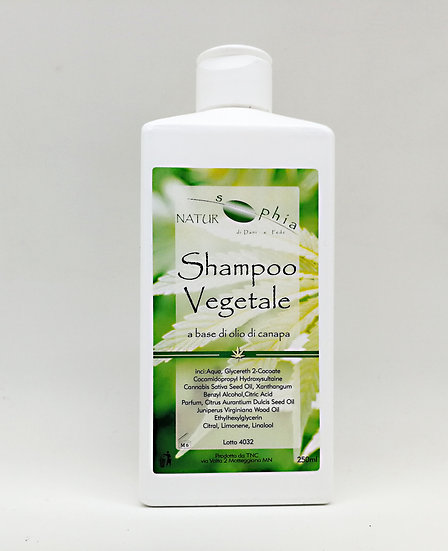 Shampoo Vegetale all'Olio di Canapa