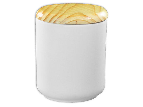 Small Modern Canister with Wooden Lid