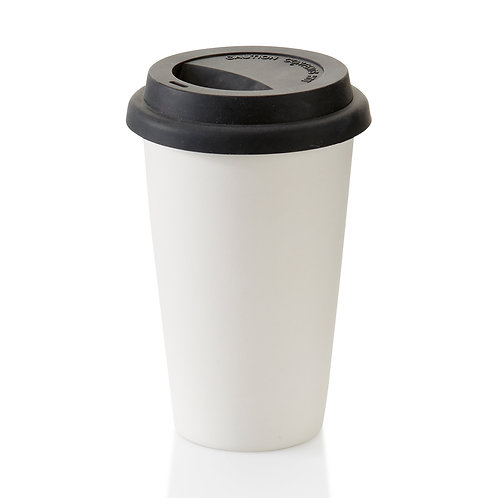 Travel Tumbler with silicon lid - (Coffee house mug w/ lid)